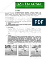 Fluid Footwork in Tennis