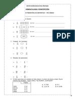 Examen Trimestral de Aritmetica 4to Grado