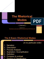 The 8 Basic Rhetorical Modes