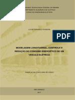 Modelagem longitudinal, controle e eficiência energética de um veículo elétrico