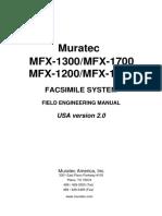 Mfx1200, Mfx1300, Mfx1600, Mfx1700 Service Manual