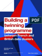 Building a twinning programme between French and British data clusters