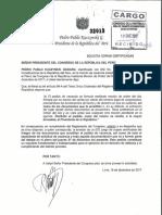 PPK pide al Congreso copias certificadas del pedido de vacancia