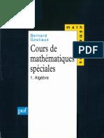 Bernard Gostiaux Cours de Mathématiques Spéciales, Tome 1 Algèbre