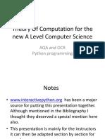 Theory of Computation Aqa Ocr