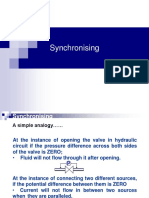 Syncronising