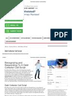 Debt Collector Call Script » Fair Debt Collection
