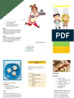 folleto recetas evento