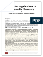 Computer in Community Pharmacy by Adnan Sarwar Chaudhary
