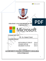 Microsoft Strategic analysis.docx