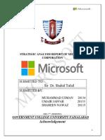 Microsoft Strategic analysis.docx