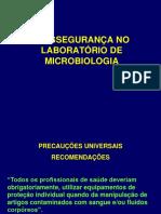 Biossegurança No Laboratório de Microbiologia