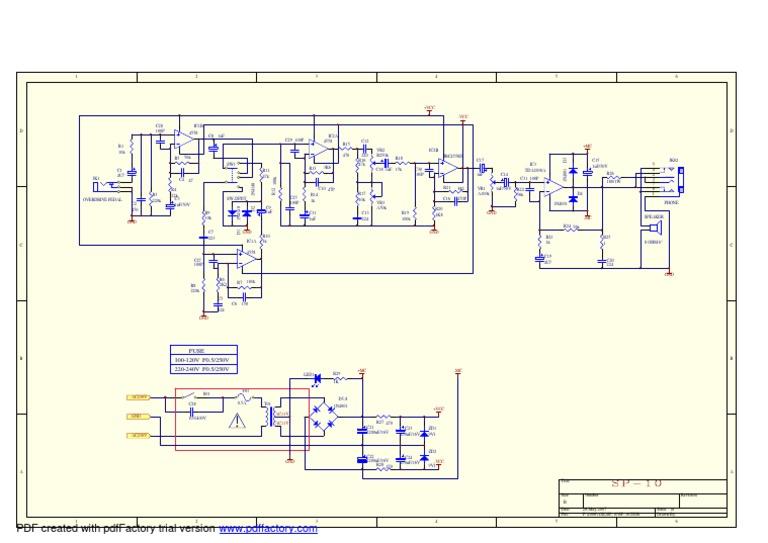 Fender SP-10 Schematic on