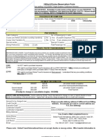 Initial Reservation Form