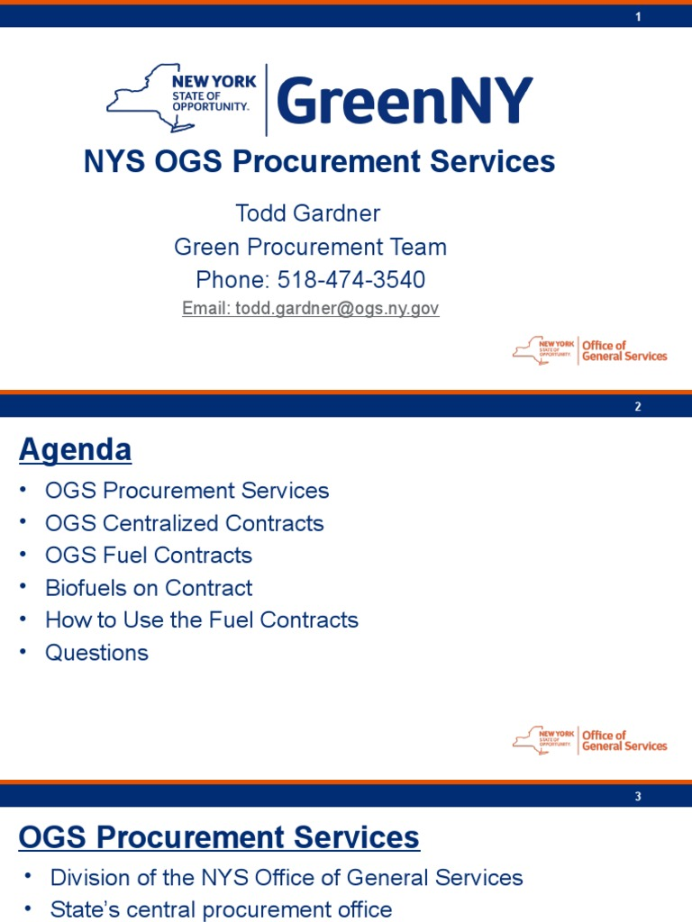 NYSOGS - Buying off the State Contract | Biodiesel | Fuels