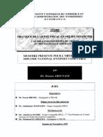 Audit Fiscal en Milieu Financier