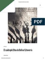 El Cuádruple Ethos de Bolívar Echeverría _ Analéctica