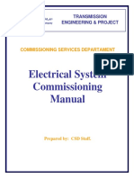 Electrical System Commissioning Manual لمهمات المحطه (الشركه السعوديه)