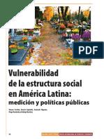 CECHINI, S. y OTROS. Vulnerabilidad de La Estructura Social
