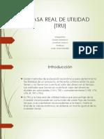 Analisis de Proyectos i Tasa Real de Utilidad