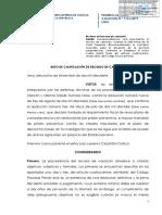Auto de calificación de Casación presentada por Ollanta Humala Nadine Heredia