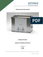 Manual Lavadora Ultrasonica Gentice