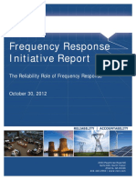 NERC Frequency Response Initiative Report