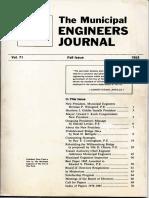 Municipal Engineers Journal Fall 1985 Vol 71