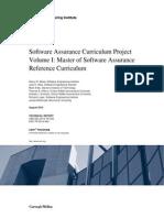 Software Assurance Curriculum Project Volume I