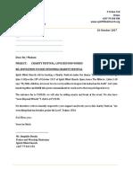 Charity Festival Letter