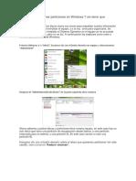 Como Crear o Eliminar Particiones en Windows 7 Sin Tener Que Formatear