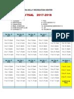 Cora Kelly  Schedule 2017-2018