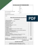 FQ-047 - Sistema de Avaliação de Fornecedores