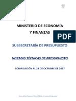 Normativa Presupuestaria Codificada 23 de Octubre de 2017