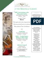 events at the memorial garden 1-7-18