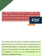 10º CLASE - LA MECÁNICA DE ROCAS EN EL DISEÑO DE LA MINERÍA.ppt