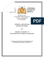 Tender for Procurement of New Design Currency Cbk-37-2017-2018 - Final Bidder No Pass