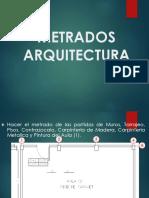 METRADO ARQUITECTURA