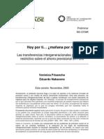 Las transferencias intergeneracionales y su efecto restrictivo sobre el ahorro previsional en Perú