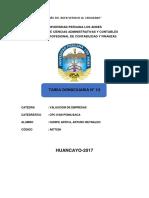 TAREA DOMICILIARIA N° 13