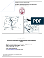 3er Informe-Subducción Placas de Nazca y Sudamericana