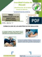 Farmacologia de Los Anestésicos Inhalatorios