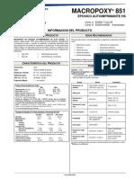 Especificaciones tecnicas Macropoxy 851