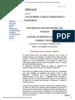 Ecop Examen Clinico Orientado a Problemas - Medicina Internajwgrojas