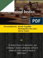 criminal justice presentation