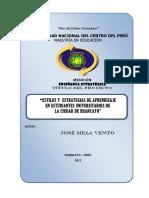 PROYECTO DE INVESTIGACIÓN - ESTILOS Y ESTRATEGIAS DE APRENDIZAJE - 2008 - octubre final.docx