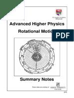 AH Rotational Motion Summary Notes 2015