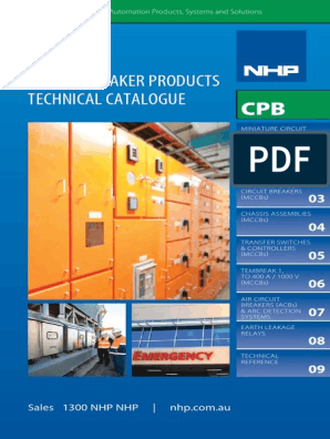 NHP CB Tech Catalog CPB Technical Catalogue | Relay | Switch Nch For A Circuit Breaker Shunt Trip Wiring on