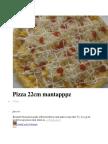 1 Pizza 22cm Mantapppz
