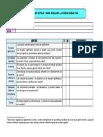 Lista de Cotejo Para Evaluar La Unidad Didactica